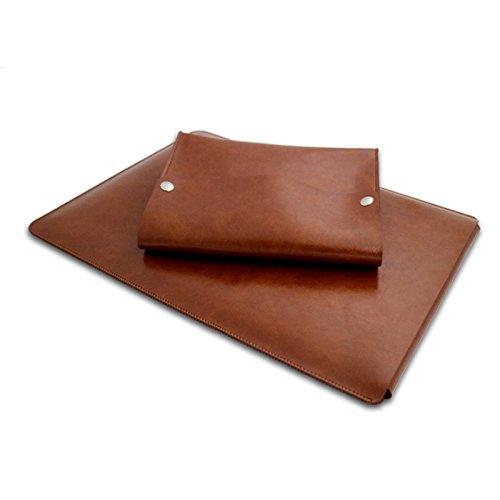 JUSTYOU Laptop-Tasche Laptop-Hülle 11/13.312 Zoll dünne Ledertasche 11 inch brown