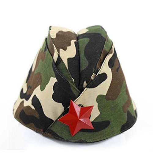 Russian Army Cap Tricorne Green Camo Bonnet Star Logo Women Sailor Military Stage Performance Dance Hats Chinese Boat Caps 14