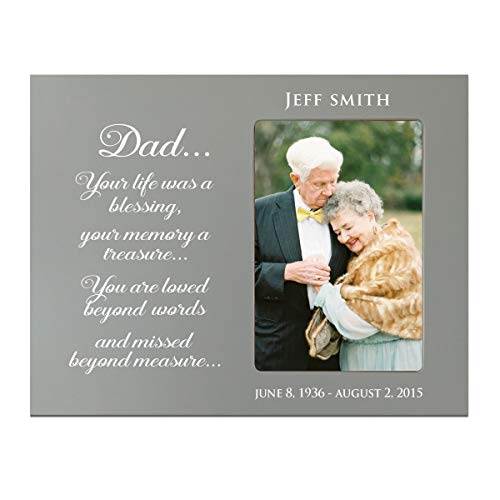 LifeSong Milestones Personalized Bereavement Memorial Picture Frame Gift for Loss of Loved One Sympathy Photo Frame Holds 4