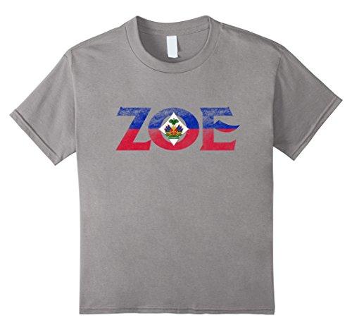 Kids Haitian ZOE Pride Flag T shirt I Love Haiti Coat Of Arms 4 (Haiti Coat)