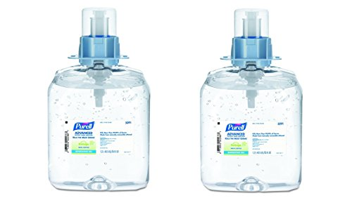 PURELL 509103 Advanced Green Certified Instant Hand Sanitizer Gel 1200mL Fragrance-Free (2 X Pack of 3) by Purell