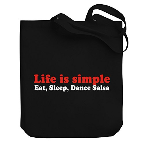 LIFE Tote Bag Teeburon SLEEP Canvas SIMPLE Salsa Dance EAT Axn0gwdP0O