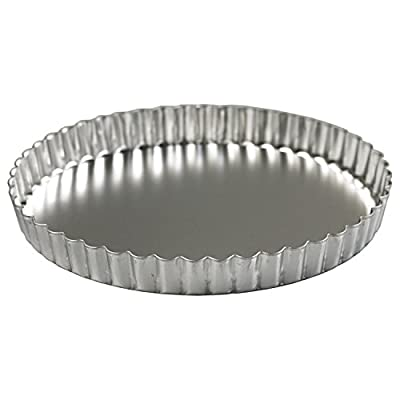 Scandicrafts Satin Finish 8 Inch Quiche Pan with Removable Bottom