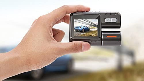 Vehicle Video Recorder Dash Cam Dual Lens 2.0 Inch Full HD 1080P Mini Car Camera DVR with Night Vision G-Sensor Tachograph Black Box for Car Driving Recorder