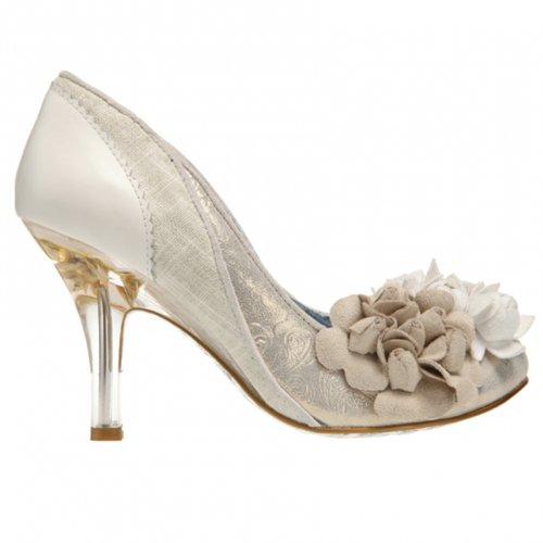 e542f6e3a0bdec Irregular Choice Mme Bas Or Ivoire Style Vintage Talon Haut Chaussures  Mariage Ordre