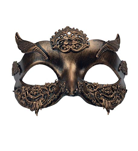 (KBW Adult Unisex Steampunk Copper Venetian Masquerade Mask Vintage Victorian Style Retro Punk Rustic Gothic Mechanical Party Bling Costume Accessories)