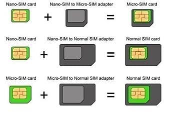 Amazon Com Isyfix Sim Card Adapter Nano Micro Standard By 4 In 1