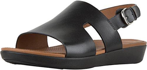 Fitflop Commercio; Sandali Con Cinturino Posteriore H-bar ™ - Pelle Nera