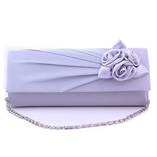 BAITER - Cartera de mano para mujer blanco blanco Plateado - plata
