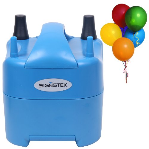 Signstek Electric Portable Household Air Blower Electric Balloon Air Pump Inflator with 15000pa Single Nozzle 700L/min Air Volume and Dozen of Balloons by Signstek
