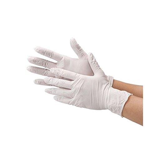 川西工業 ニトリル極薄手袋 粉なしホワイトM ds-1915810 B078BNS5BH