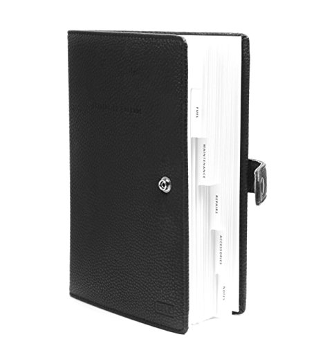Guwq Vehicle Maintenance Log Mileage Log 6 Category Black Leather Logbook Fits In Your Automobiles Glovebox 575 X 85 X 05