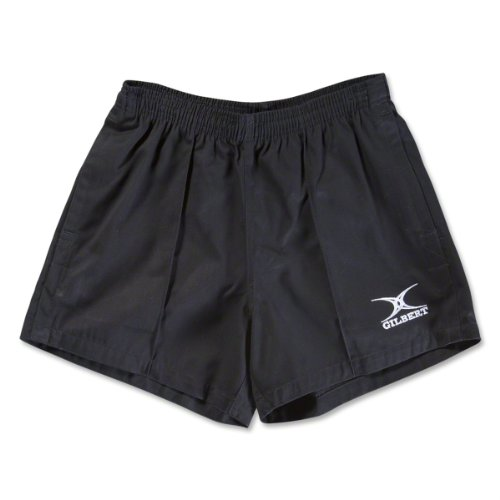 Gilbert Kiwi Pro Rugby Short, Black, (Pockets Rugby)