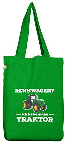 ShirtStreet Landwirt Trecker Bio Baumwoll Jutebeutel Stoffbeutel Rennwagen - Traktor Kelly Green EtKedmFwVB