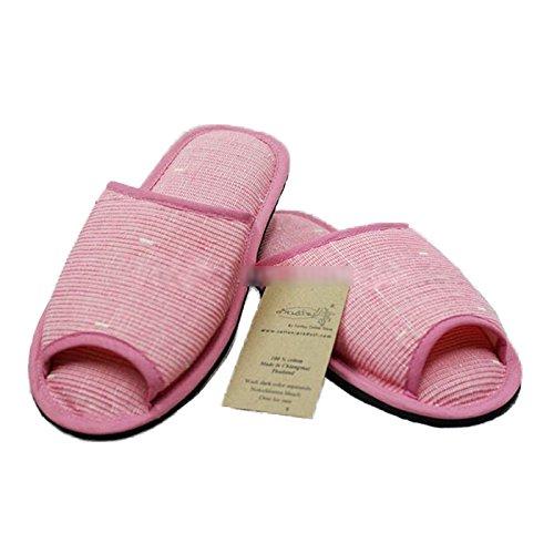 Håndvevde Bomull Tøffel Thai-stil (xl (11,5 Lengde), Rosa-brun) Rosa