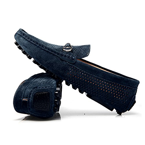 Mocasines De Blue7051 Slip Casual Cuero De Zapatos Mocasines Y Vaca Transpirables ConduccióN Zapatos Gamuza Zapatos Hombres Cuero CóModos Hombres En vP8F1HH