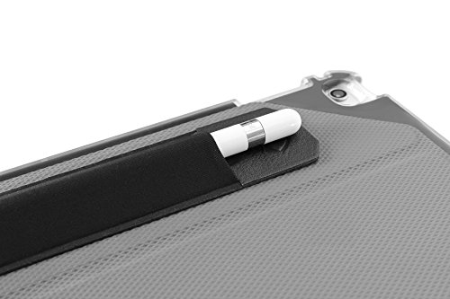 ZUGU CASE Apple Pencil 1 & 2 Holder Sticker - Peel N Stick Elastic Stylus Pocket (Black) (Pencil Cases Small)