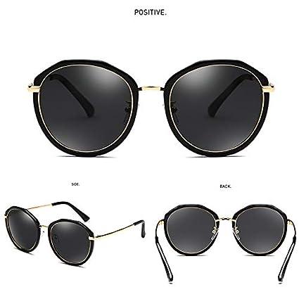 YLNJYJ Polarized Sunglasses Women Round Irregular Frame Design Color Film Lens Shades For Women Driving Glasses Women