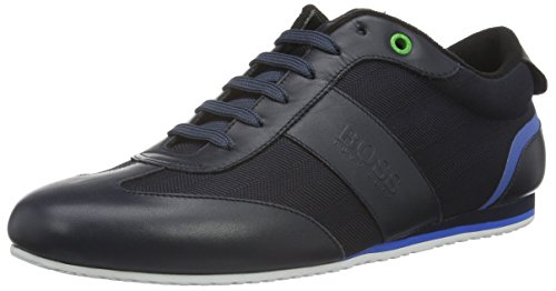 Hugo Boss Men's Hugo Boss Green Men's Dark Blue Lighter_Lowp_Nyhr Trainers 11 UK/45 - Hugo Shop Uk Boss