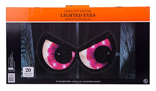 Haloween Spooky Eyes Suction Window Decoration - Purple -