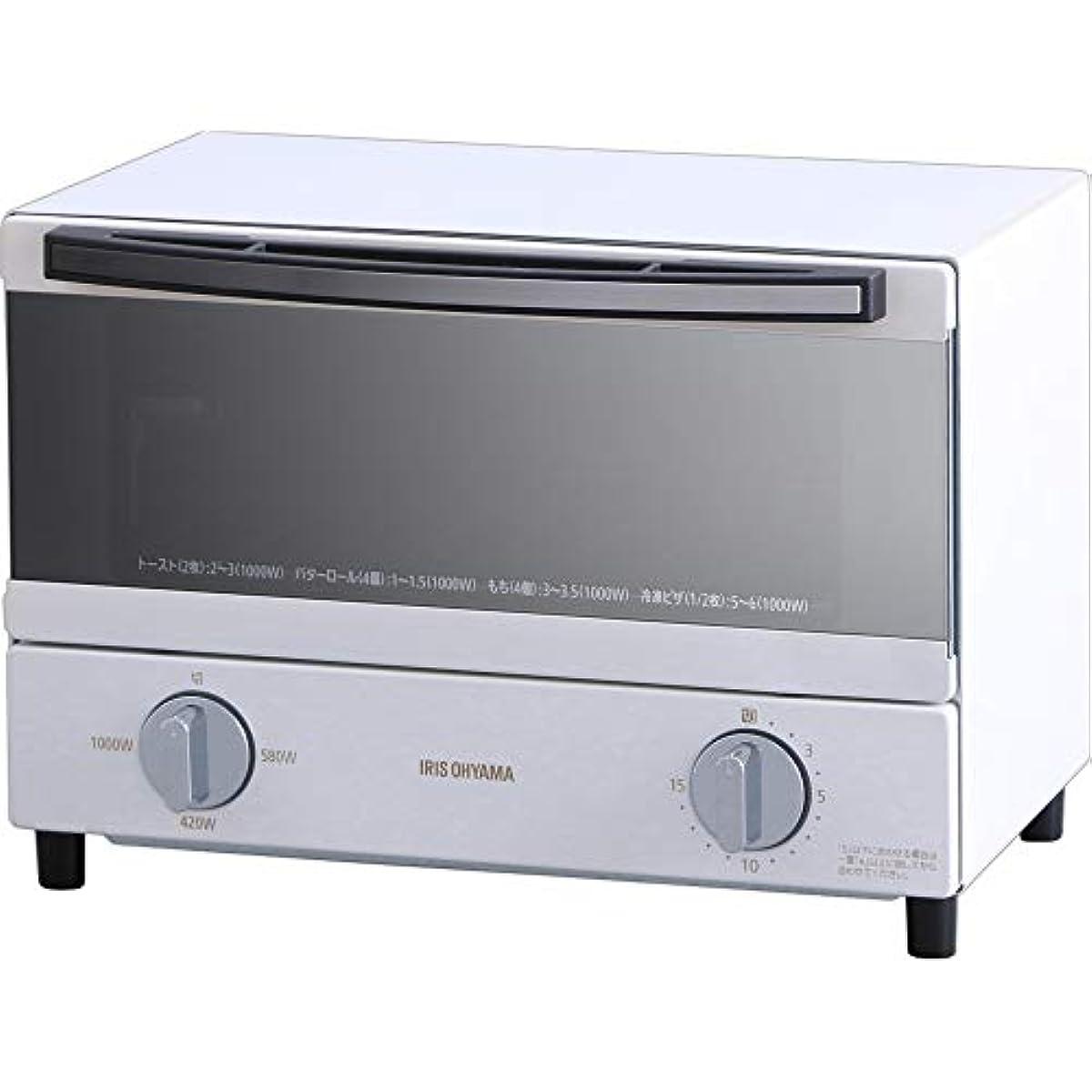 [해외] 아이리스 오야마 steam 오븐 토스터기 2 매구이 온도 조절 쟁반 퍼터이머 기능 첨부가로퍼터입 화이트 SOT-011-W