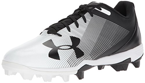 Under Armour Men's Leadoff Low RM Baseball Shoe, Black (011)/White, 10 by Under Armour