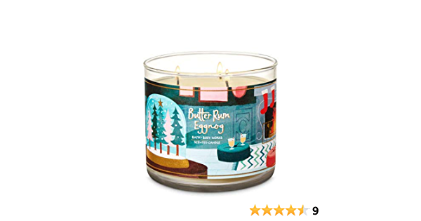 Rum /& Cardamon 70hr SPIKED EGGNOG Delicious Scented Stylish Oval CANDLE Coconut
