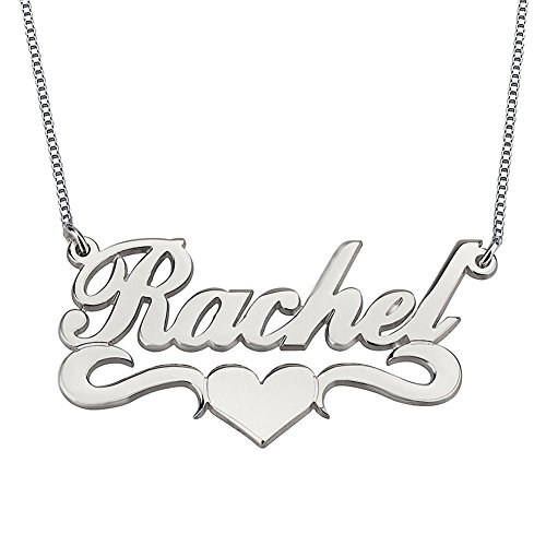 Silver Personalized Name Necklace - 4