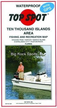 Top Spot Map N204 10 Thousand Islands Florida Area Fishing and Recreation Map