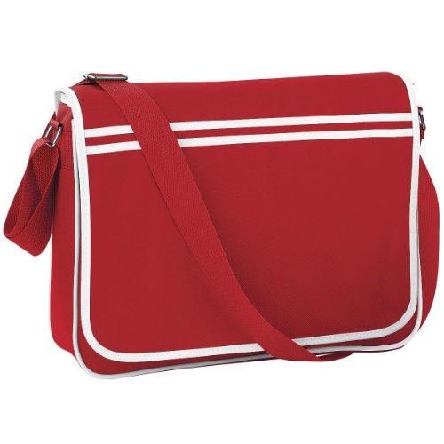Bagbase Retro Adjustable Messenger Bag (12 Liters) (One Size) (Classic (Red Womens Messenger Bag)