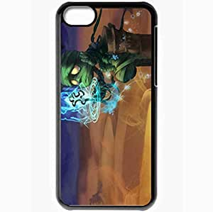 Personalized iPhone 5C Cell phone Case/Cover Skin Amumu League Of Legends Sad Mummy Black