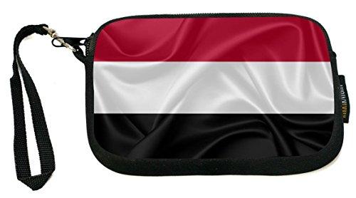 Rikki Knight Yemen Flag - Neoprene Clutch Wristlet Coin Purse with Safety Closure