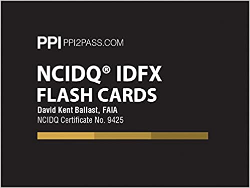 NCIDQ IDFX Flash Cards First Edition New