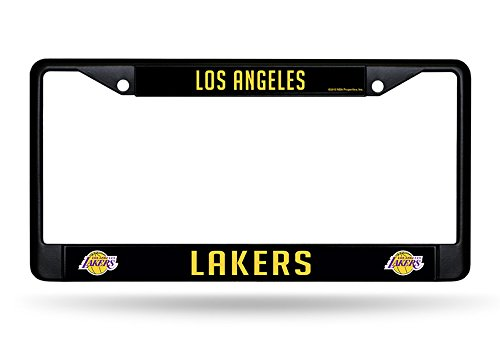 - Los Angeles Lakers Black Metal License Plate Frame