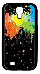 Cool Painting Samsung Galaxy I9500 Case and Cover -Color Splash Polycarbonate Hard Case Back Cover for Samsung Galaxy S4/I9500