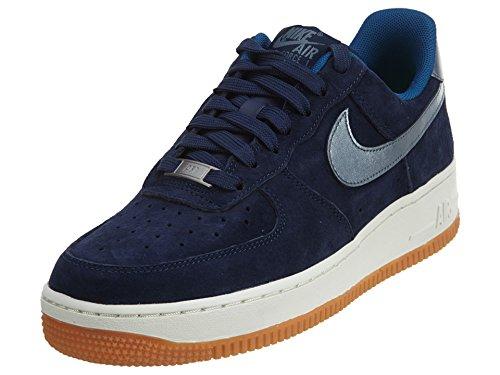 Nike W Air Force 1 '07 Prm Suede, Zapatillas de Deporte para Mujer Azul Marino (Midnight Navy / Mtlc Blue Dusk)