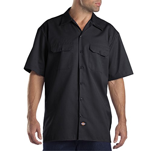 Dickies Men's Short-Sleeve Work Shirt (2 Pack - X-Large, Black) (Zookeeper Costume)