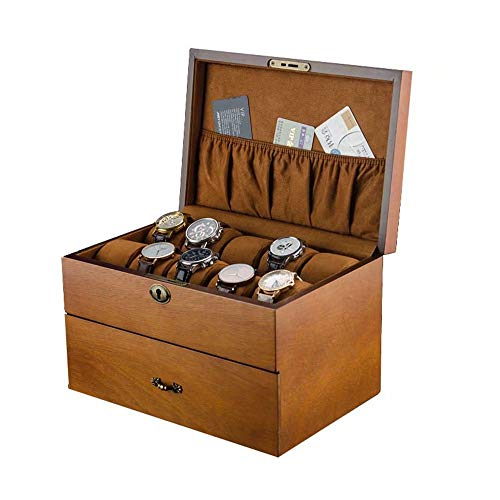 - Double-Layer Wooden Jewelry Box with Lock Key Pillow Display Jewelry Series Storage Supplies Necklace Bracelet
