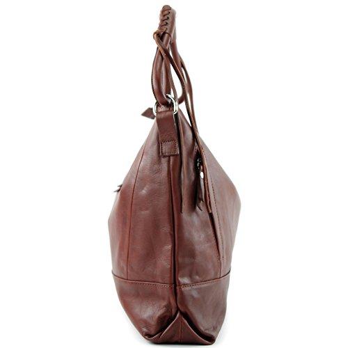 modamoda de - Made in Italy - Bolso al hombro para mujer siehe Beschreibung, color marrón, talla siehe Beschreibung