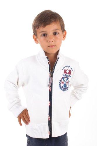 La Martina Kids Sweatjacke College Polo Gear Weiß F16