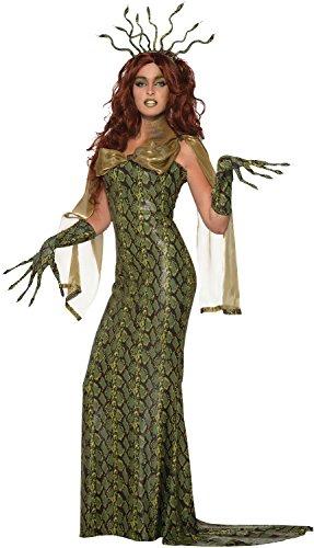 Ladies Deluxe Medusa Snakes Greek Mythology Halloween Horror TV Book Film Fancy Dress Costume Outfit