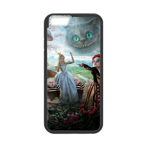 Fayruz- Personalized Protective Hard Textured Rubber Coated Cell Phone Case Cover Compatible with iPhone 6 & iPhone 6S - Alice in Wonderland Cheshire Cat F-i5G717