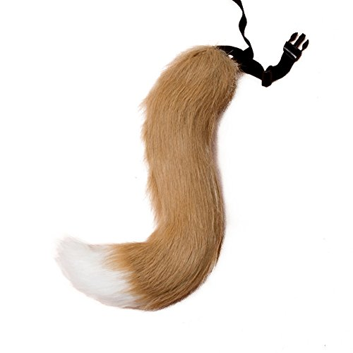 starlit Halloween Faux Fur Fox Tail Cosplay Furry Wolf Dog Adjustable Carnival Costume