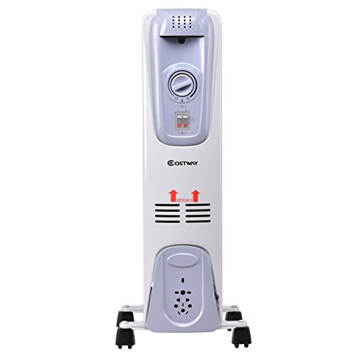 Costway Oil Filled Radiator Heater Portable Electric Home