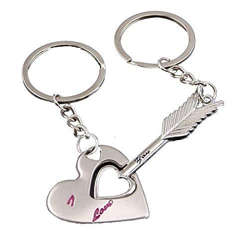 llave de mi coraz/ón llavero de amor 1/par de bonitos llaveros para parejas Onlyou