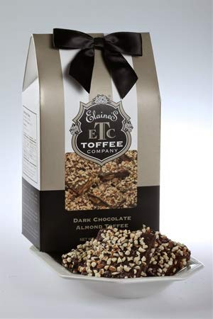 Dark Chocolate Almond Toffee 1lb Gift Box by Elaines Toffee Company
