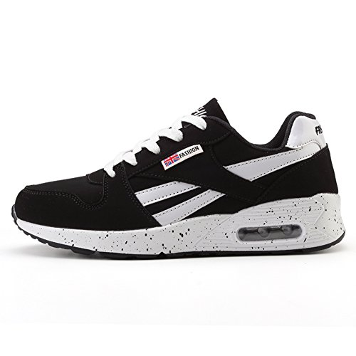 Chaussure Blanc Course Chaussure Outdoor Sneakers Mode Gym Baskets Noir 38 Basse Femme Fitness Sport Rond Plat Air Inconnu Bq8xan
