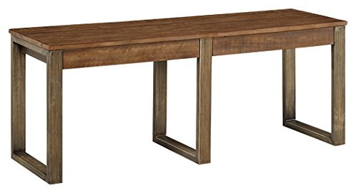 Ashley Furniture Signature Design - Dondie Dining Room Bench - Solid Pine Wood with Distressed Finish - Warm Brown by Signature Design by Ashley (Image #1)'