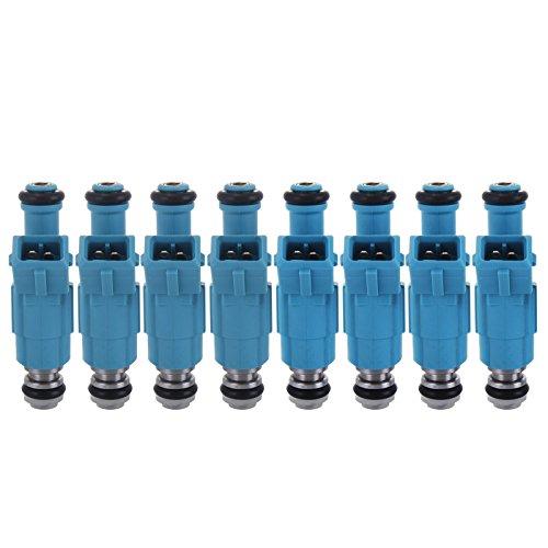 Mophorn Set Of 8 Flow Matched Fuel Injectors High Impedance 250cc Fuel Injectors 24LB OEM Injectors Fit for Chevrolet Ford Pontiac LS1 LT1 5.0L 5.7L