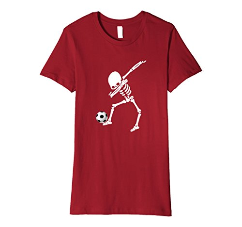 Womens Halloween Dabbing Skeleton Soccer Shirt Dab Pose Soccer Ball XL (Football Related Halloween Costumes)